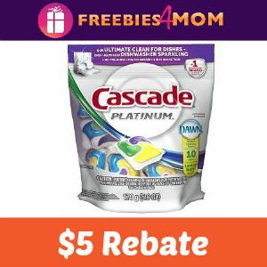 Rebate: $5 on Cascade Platinum