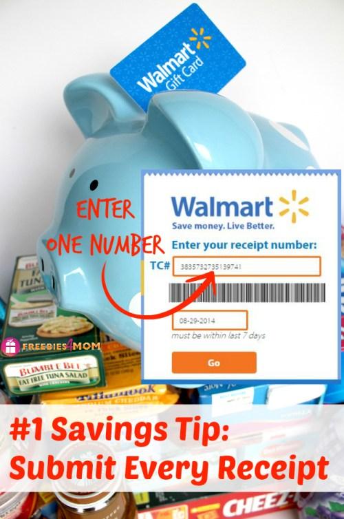 Walmart Savings Tip: Submit Every Receipt #SavingsCatcher