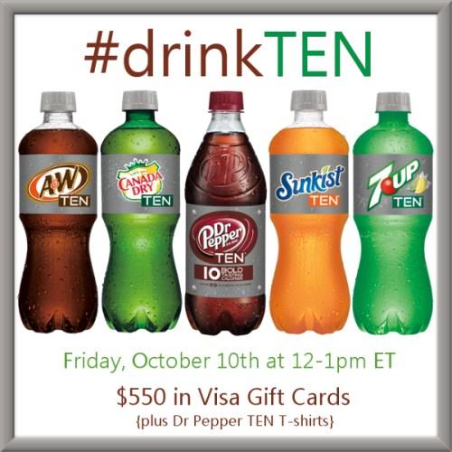 #drinkTEN -Twitter-Party-10-10-at-12pmET #TwitterParty, #shop, sweepstakes on Twitter