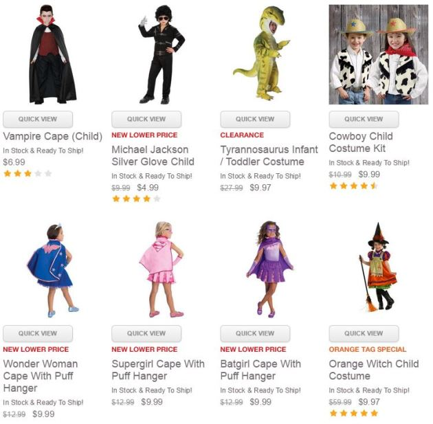 $10 or less Halloween Costumes Deals
