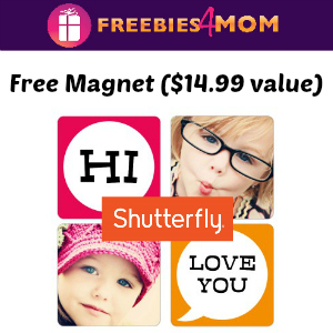 Free Shutterfly Photo Magnet ($14.99 value)