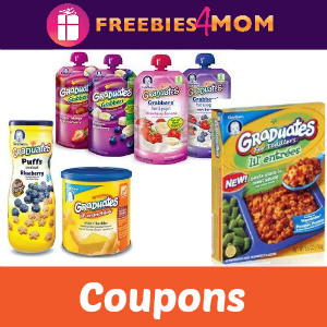 Coupons: Gerber Graduate Snacks & Meals