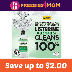 Coupons Save up to $2.00 on Listerine Naturals