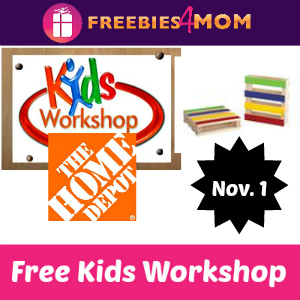 Free Kids Workshop Nov. 1 at Home Depot