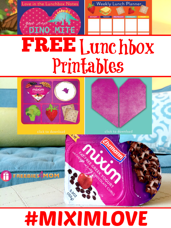Free Lunchbox Printables from MIXIM