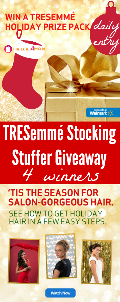 TRESemmé Stocking Stuffer Giveaway (4 winners)