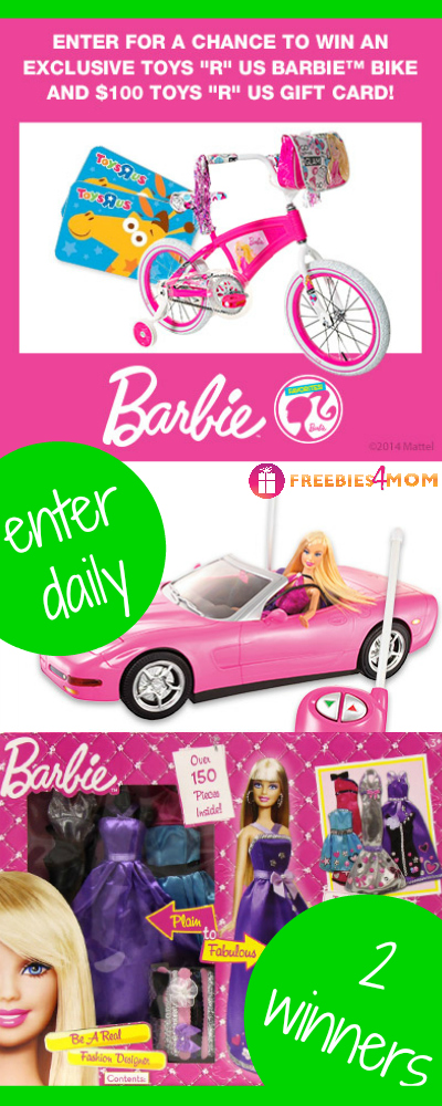 "Barbie Bike and $100 Toys ""R"" Us Gift Card Giveaway"