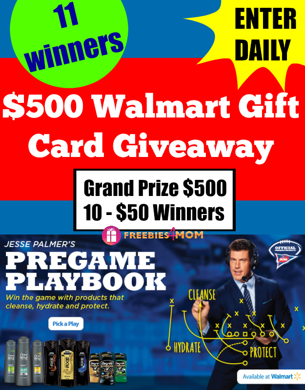 $500 Walmart Gift Card Giveaway ~ Take Pride In Your Pregame