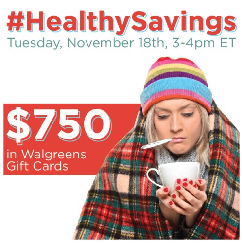 #HealthySavings-Twitter-Party-11-18-3pmEST,#TwitterParty,#shop,sweepstakes on Twitter