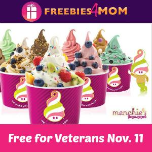Free Frozen Yogurt at Menchie's for Veterans 11/11