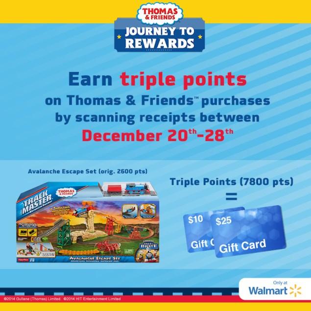 Earn Triple Points on Thomas & Friends