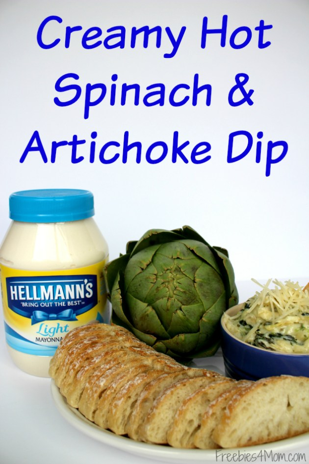 Creamy Hot Spinach & Artichoke Dip Appetizer Recipe