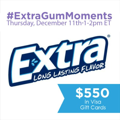 #ExtraGumMoments-Twitter-Party-Dec.11-2pmET,#TwitterParty,#ad,sweepstakes on Twitter