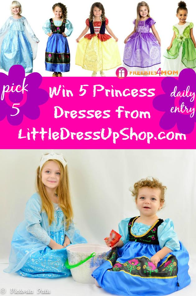 Win 5 Princess Dresses from LittleDressUpShop.com