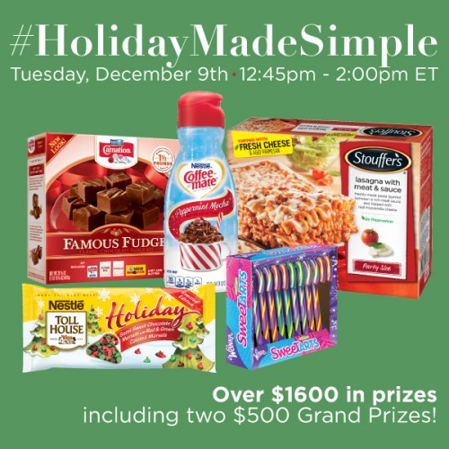 #HolidayMadeSimple-Twitter-Party-Dec.9-1245pmET,#TwitterParty,#ad,sweepstakes on Twitter