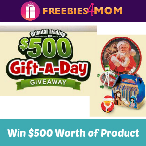 Sweeps Oriental Trading $500 Gift-A-Day