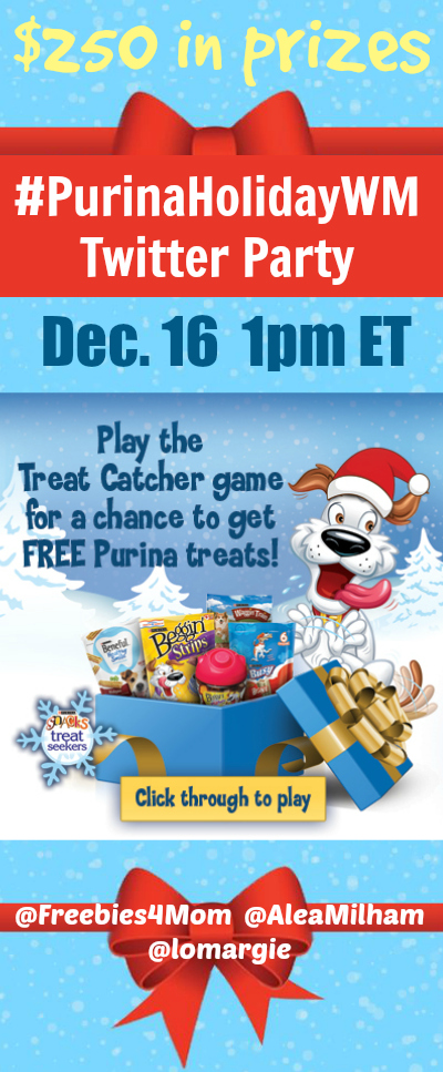 $250 in Prizes at #PurinaHolidayWM Twitter Party Dec. 16 1pm ET