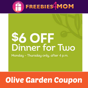 6 Off Dinner For Two At Olive Garden