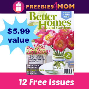 Free Better Homes & Gardens (1 year)