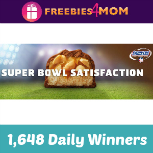 Sweeps Snickers Super Bowl Satisfaction