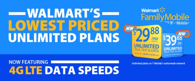 Walmart Family Mobile Lowest Priced Unlimited Plans