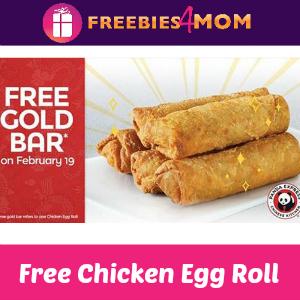 Free Chicken Egg Roll at Panda Express Thursday