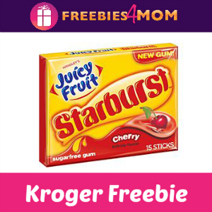 Free Juicy Fruit with Starburst Gum at Kroger