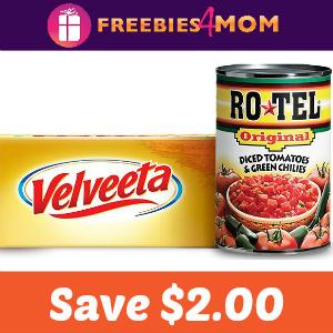 Coupon: Save $2.00 on One Velveeta & 2 Ro-Tel