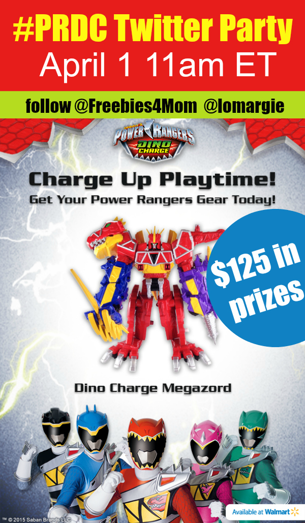 $125 in Prizes at #PRDC Twitter Party April 1st 11am ET ~ Power Rangers Dino Charge