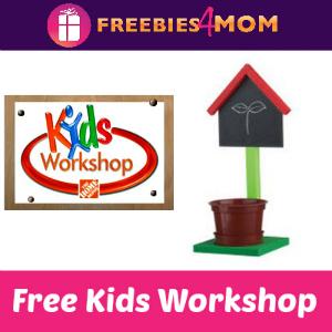Free Kids Workshop at Home Depot April 4