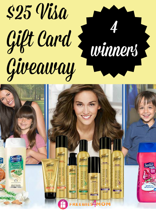 $25 Visa Gift Card Giveaway (4 winners) ~ Suave Luxe Style Infusion at Walmart