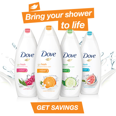 Print $1.00 Dove® go fresh Body Wash Coupon
