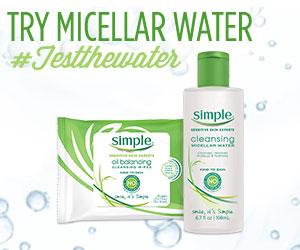 Try Simple Micellar Water #TestTheWater