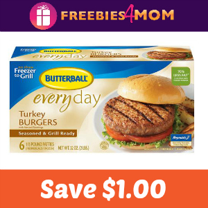Coupon: Save $1.00 off Butterball Turkey Burgers