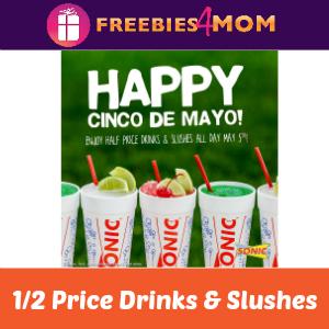 1/2 Price Drinks & Slushes at Sonic Tomorrow
