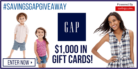 Win a $50 GAP Gift Card (20 winners)