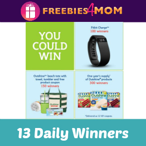 Sweeps Outshine Your Snack (13 Daily Winners)