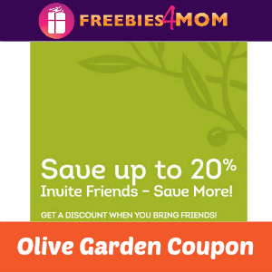 Save Up To 20% Off at Olive Garden