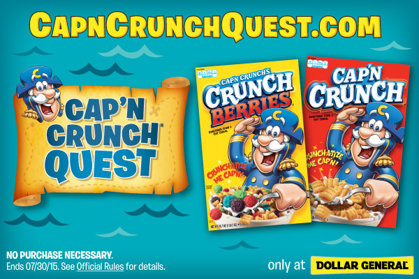 Cap'N Crunch Quest Sweepstakes