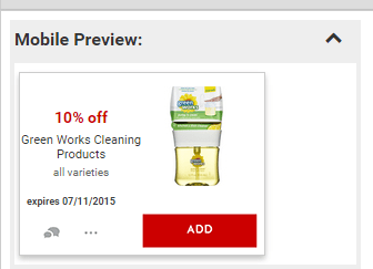 Green Works Cleaning Products Cartwheel Offer at Target
