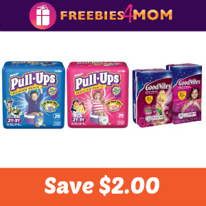 Coupon: $2.00 off Pull-Ups or Goodnites