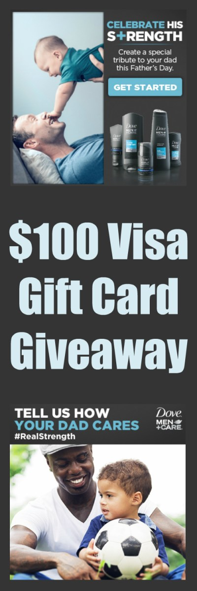 $100 Visa Gift Card Giveaway ~ Dove Men+ Care at Walmart