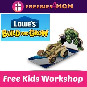 Free Hulk's Tank Lowe's Kids Clinic