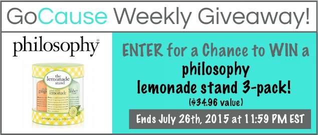 GoCause Weekly Giveaway: Win Philosophy Lemonade Stand 3-Pack