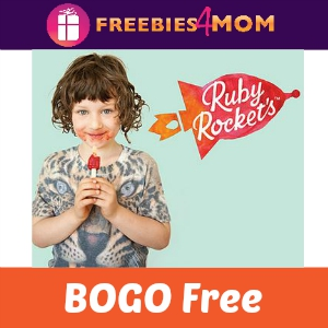 BOGO Free Ruby Rocket's Veggie & Fruit Pops