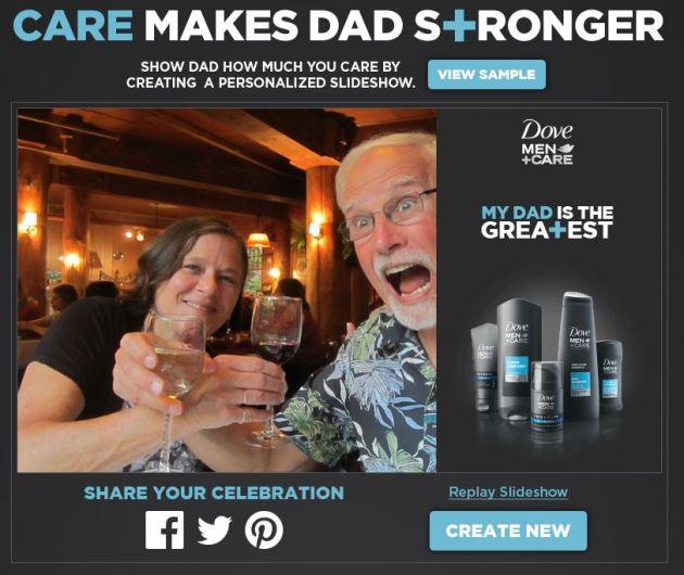 Dove Men+Care Slideshow