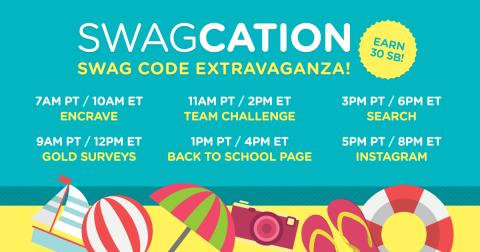 Swagcation Swag Code Extravaganza: Earn up to 30 SB