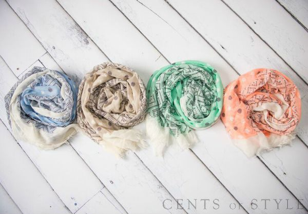 Light Summer Scarves $9.95 (+ Necklace Deal)