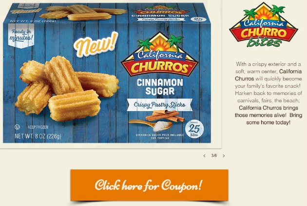 California Churros Printable coupon