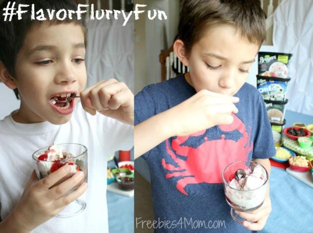 Eating Breyers Ice Cream #FlavorFlurryFun